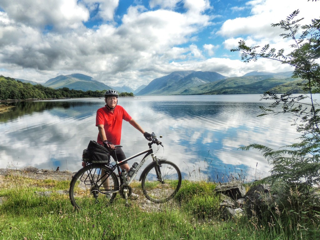 A lovely day to cycle up Loch Etive